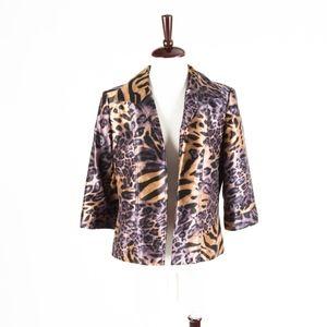 Investments – Chic Leopard Print Blazer Jacket – 8